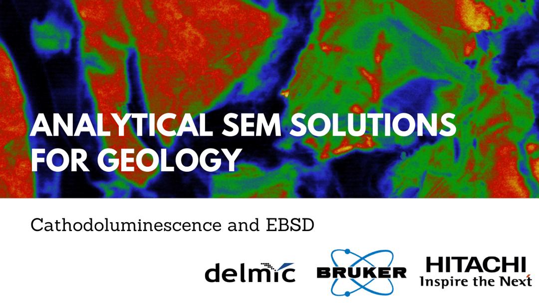 Analytical SEM for geology Delmic webinar
