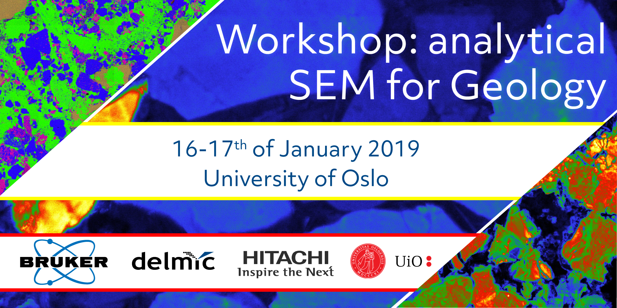 Join the workshop 'Analytical SEM for Geology' by Delmic, Hitachi, Bruker and the University of Oslo