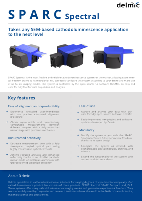 Vast possibilities of SPARC cathodoluminescence detector