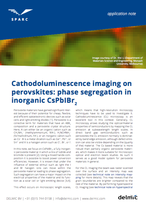 New Application Note: Cathodoluminescence Imaging on Perovskites